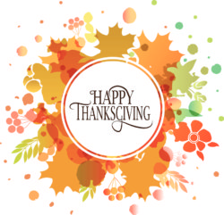watercolor design style Happy Thanksgiving Day logotype badge and icon. Happy Thanksgiving Day logo template. Thanksgiving Day card template. Happy Thanksgiving banner flyer